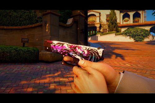 "CS:GO Glock 17 ""Neo-Noir"" Skin (SP & Fivem)"