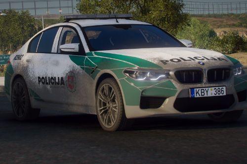 BMW M5 F90 2018 - Custom Lithuanian Police Paintjob