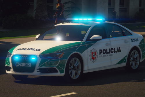 Lithuanian Police 2013 Audi A6 Saloon Livery