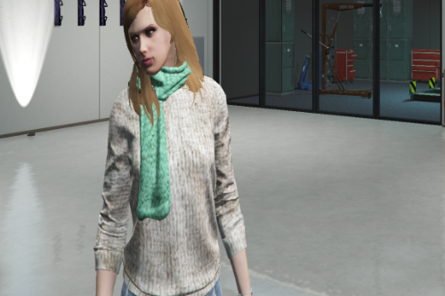 Custom Sweater (Jumper) and Scarf for MP Female
