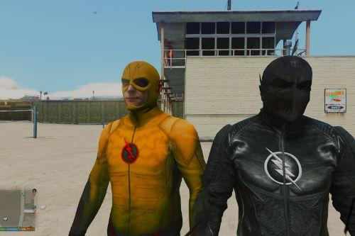 CW Flash and Reverse Flash + Zoom (Ported head)