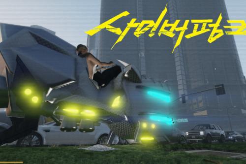 Cyberpunk 2077 Sledgehammer Hoverbike