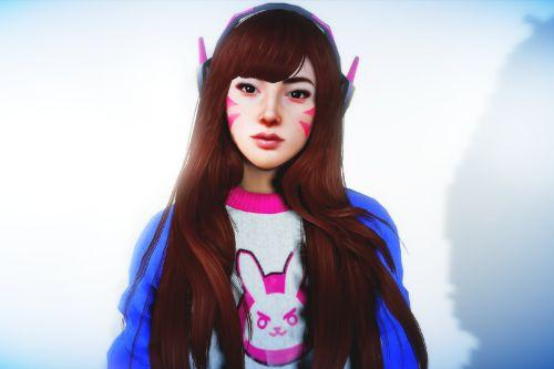 D.Va Haircut + Headset For MP Female