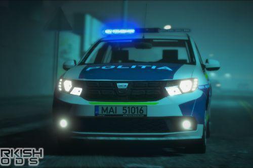 Dacia Logan 2018 Romania Politia [Replace | ELS | Template]