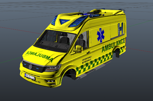 Danish 2017 Volkswagen Crafter Otaris Ambulance [ELS]
