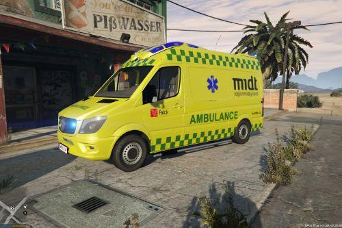 Danish Ambulance skin from 'Region Midt Jylland'