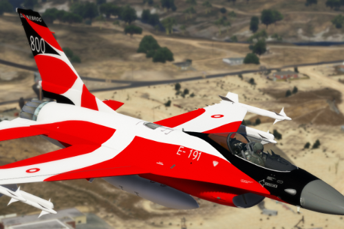 Danish Flag Anniversary Skin For An F16