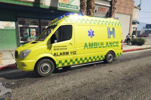 Danish 'Hovedstadens Beredskab' Ambulance Skin