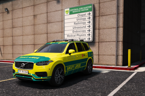 Danish Immediate Doctor // Akut Læge - VOLVO XC90 [PAINTJOB] [ELS] [ADD-ON] [FiveM]