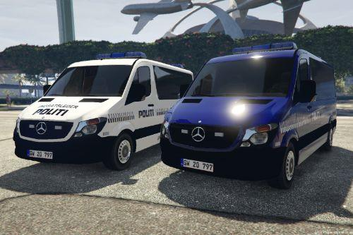 Danish Mercedes Sprinter - Group wagon/Gruppevogn - On scene Commander/Indsatsleder.