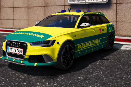 Danish Paramedic - AUDI RS6 [PAINTJOB] [ELS] [ADD-ON] [FiveM]