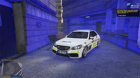 Danish police Mercedes E Klasse [Add-On | ELS] (FiveM and Singleplayer)