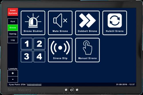 Danish Siren Mastery UI