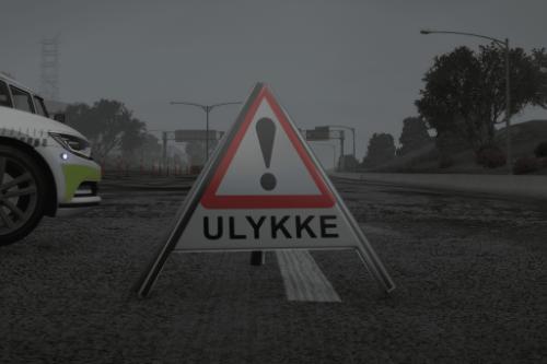 Danish Traffic Warning Sign