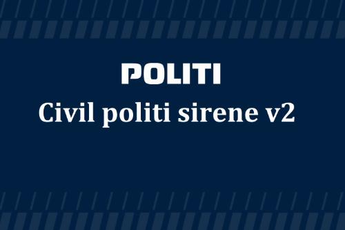 Danish unmarked police siren
