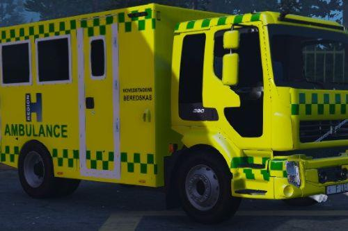 Danish Volvo FLL Ambulance [ELS]