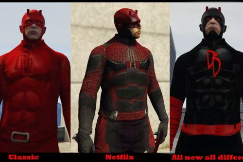 Daredevil 3 in 1 Pack +  Dual wield Weapons