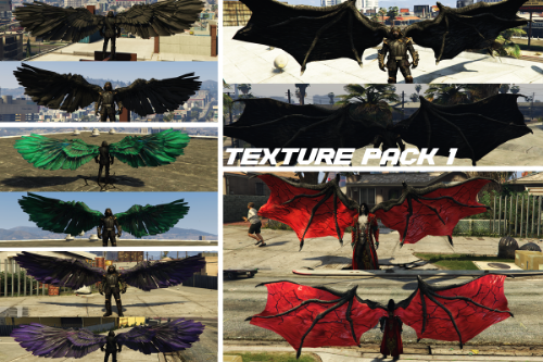 Demon & Angel Wings Retexture packs