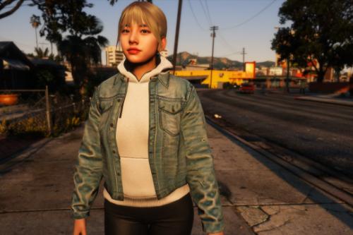 Denim Jacket + Optional Hoodie For MP Female