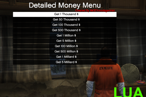 Detailed Money Menu [LUA] [PC SP ONLY]