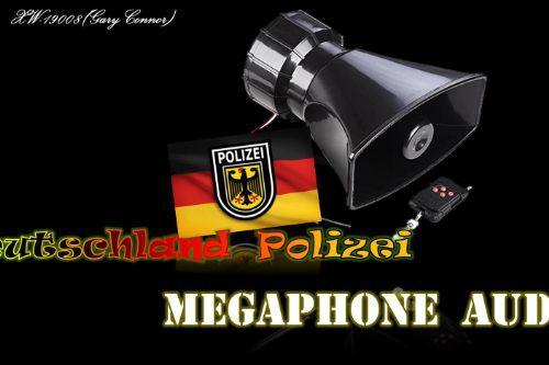 Deutschland PolizeiMegaphoneAudio