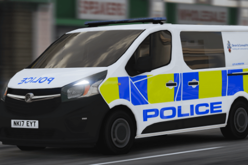 Devon and Cornwall Police Vauxhall Vivaro (2017) [Skin]