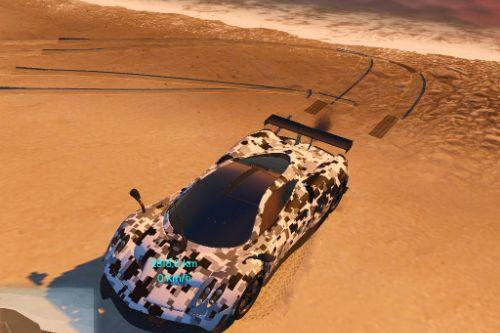 Digital camo livery for Pagani Huayra