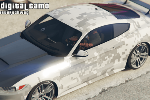 Digital Camo Wrap for 2015 Mustang
