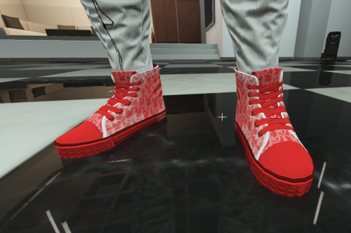 DIOR Red B-23 High-Top Sneaker for MP male