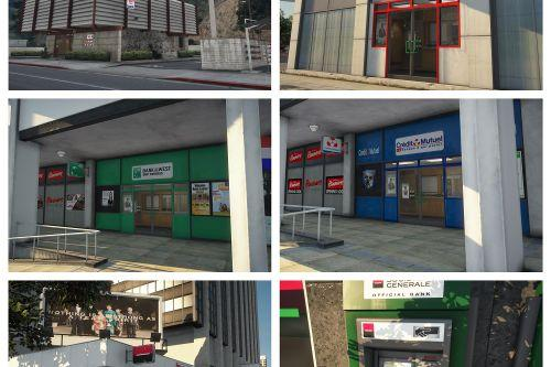 Real Banks Around Los Santos + ATM