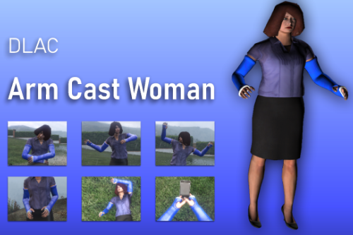 DLAC Arm Cast Woman [Add-On Ped]