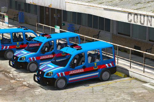 Doblo Multi Jet 2008 Turkish Gendarmerie [Replace][ELS]