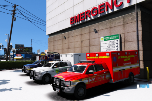 Dodge 3500 Mega Cab Ambulance [ELS] ADDON/REPLACE