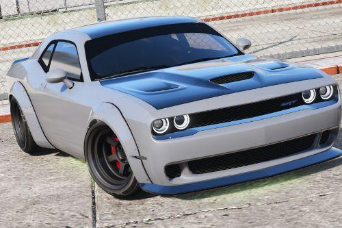 Dodge Challenger Hellcat Libertywalk - The Fate of the Furious Edition [Add-On / Replace]