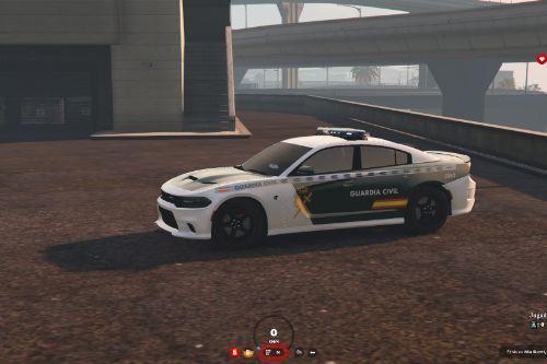 Dodge Charger Hellcat SRT Guardia Civil Nueva Rotulacion