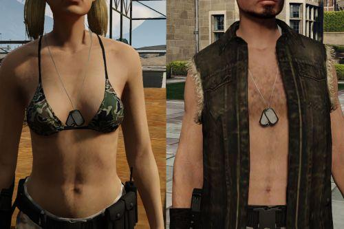Dog tag necklace for MP male and female