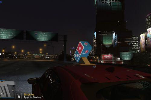Domino's Pizza Delivery Cars & Light up Sign ydr