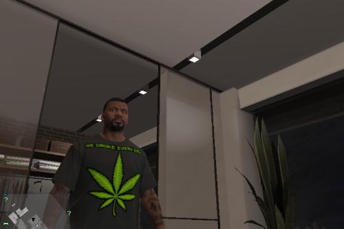 """We smoke every day"" t-shirt texture"