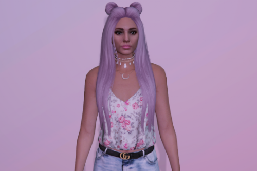 Double bun hairstyle for MP Female