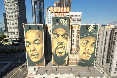 Dr.Dre, Eazy-E, and Ice Cube Billboards