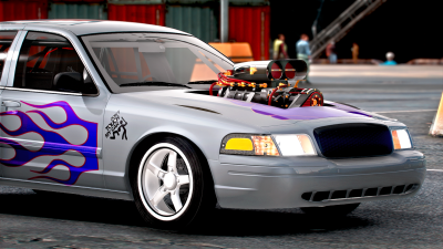 Drag Car 2008 Crown Victoria [Add-On / Replace | FiveM] [Template/Locked]