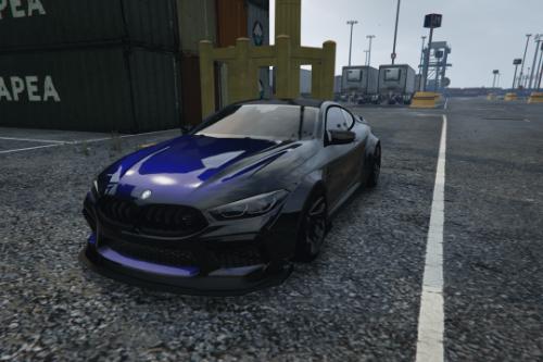 Drift Handling for MANSAUG's BMW M8 Competition MANSAUG