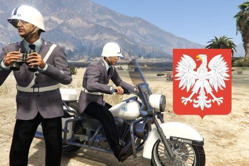 PRL MO Drogówka i motocykl Milicji Obywatelskiej Poland Polska Polish Polski