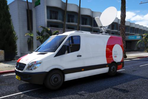 Dutch news van | Nederlandse NOS bus