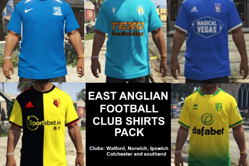East Anglia Football Clubs 2019-20 Home Shirts