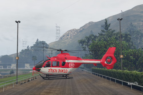 EC-135 | מסוק כבאות והצלה - helicopter fire department israel