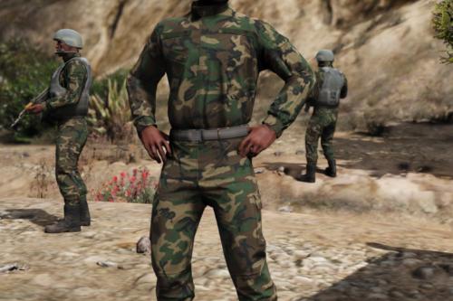 EDRL camo for uniform + panama (freemode male)