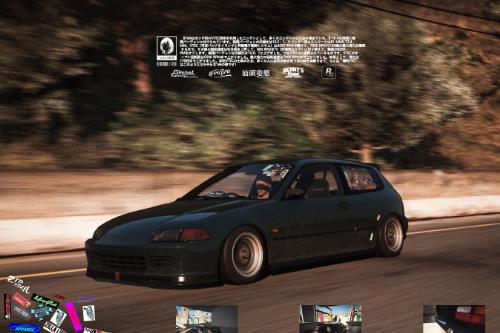 EG6 Paintjob for Vsoreny's Spoon Sports Honda Civic SIR | EG6车玻璃的死亡极限瞎几把乱贴