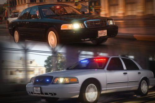 Unmarked LAPD CVPI Mini Pack [ELS | Add-On | LODs]