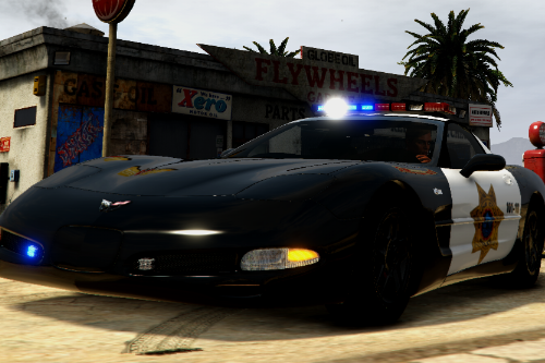 Chevrolet Corvette C5 Z06 Need For Speed Hot Pursuit Blaine County PD [Add-On | Template | Unlocked | ELS]